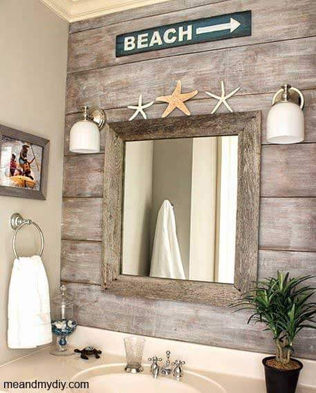 Coastal wood paneling wall