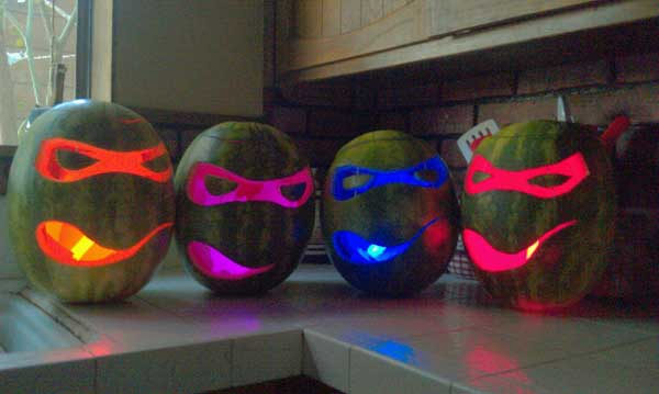 Use of Ninja Turtle Watermelon-o-Lanterns