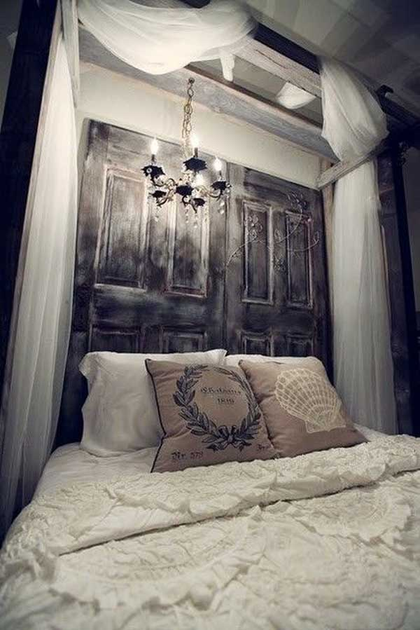 Use old doors to hang the curtain