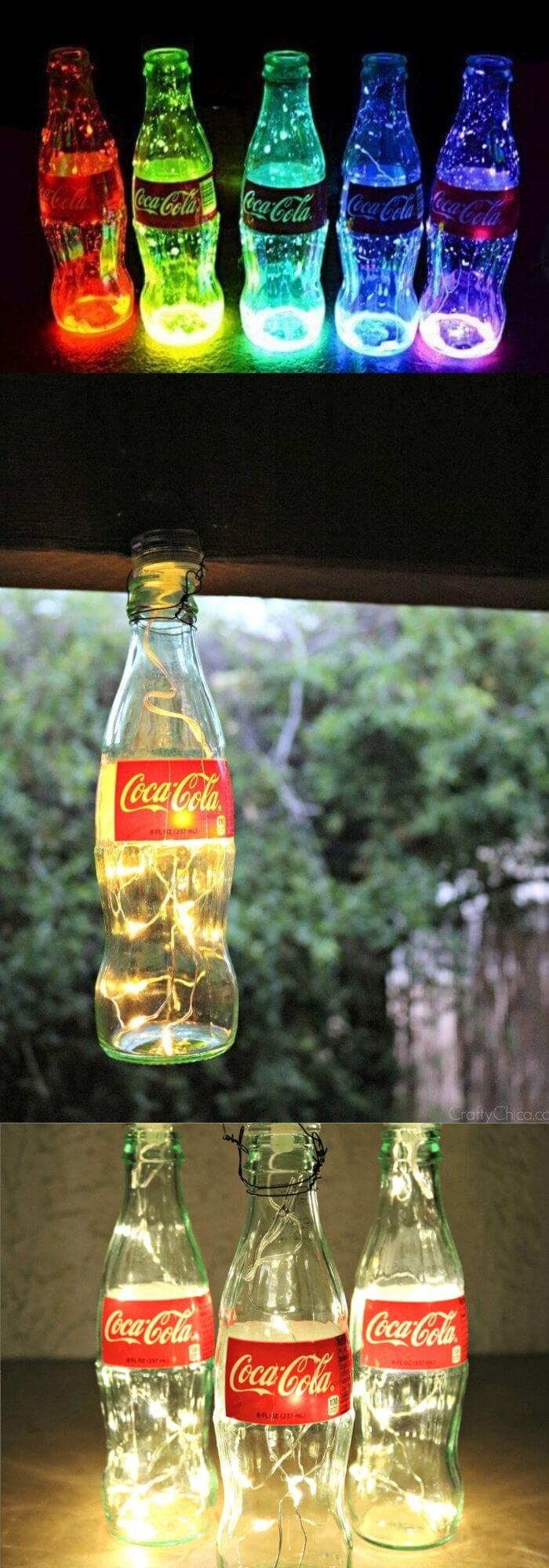 Coke Bottle Luminarias