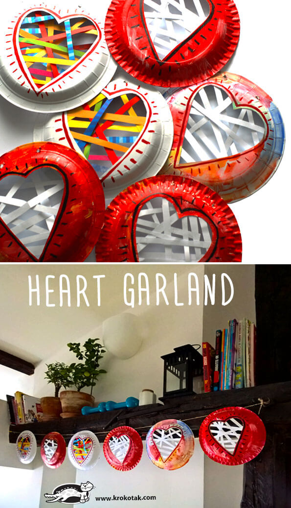 Heart garland | Heart-Shaped Crafts For Valentine's Day