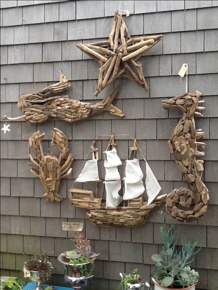 Nautical fence décor | Beach-Style Outdoor Ideas For Your Porch and Backyard