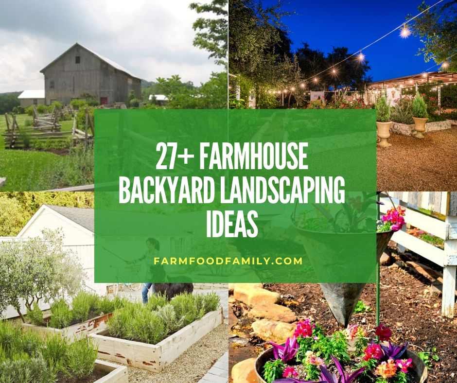 27+ Awesome Farmhouse Backyard Landscaping Ideas & Designs ... on Farmhouse Backyard Landscaping id=67159