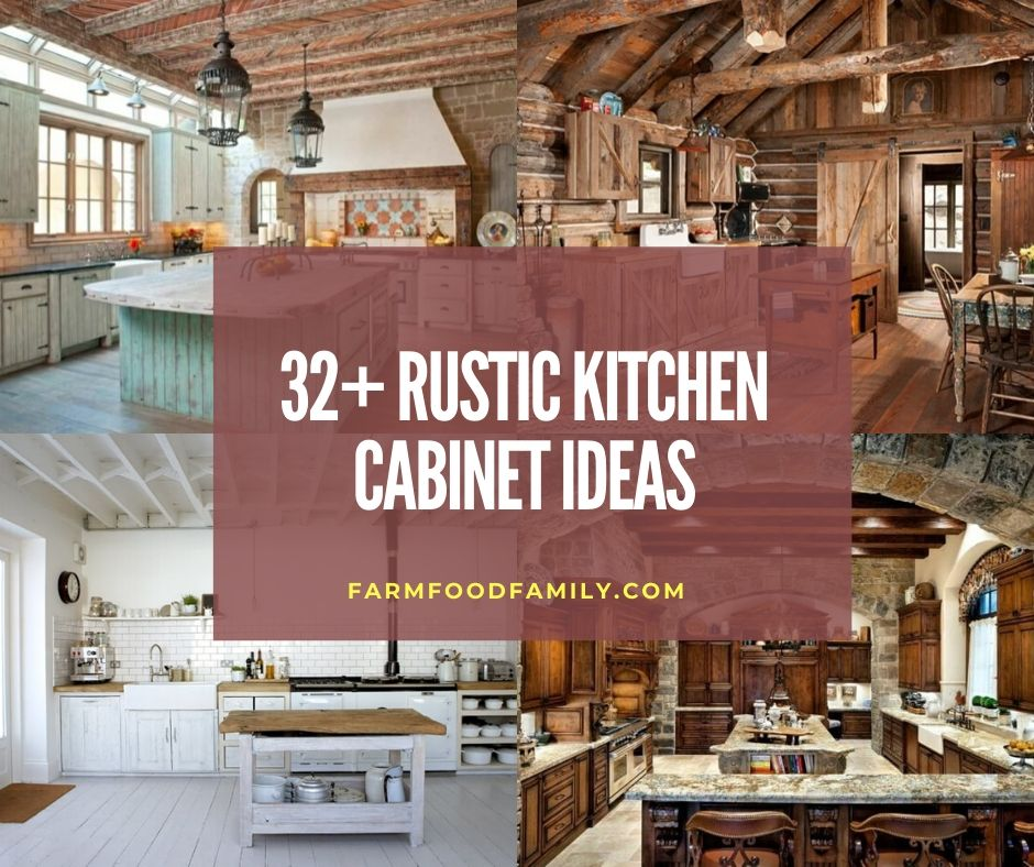 32 Rustic Kitchen Cabinet Ideas Projects With Photos In 2021
