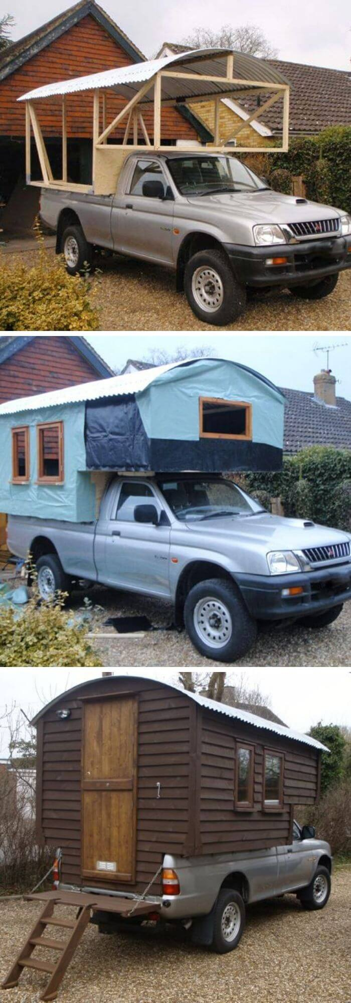 Backyard DIY Truck House