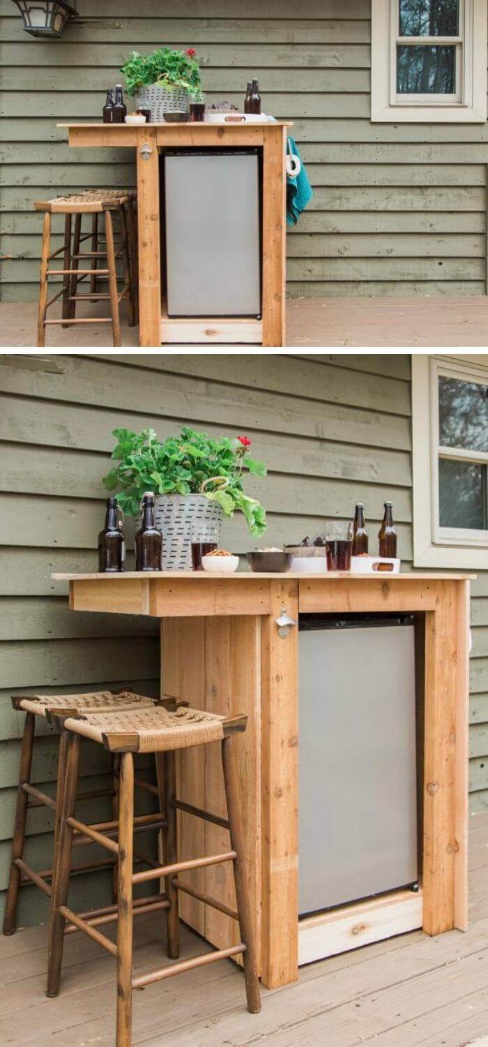 Backyard DIY Mini-Bar