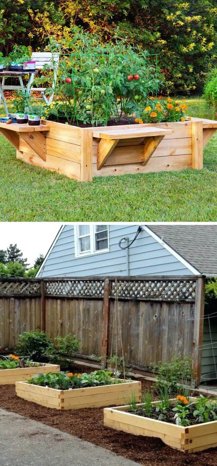 A Backyard with your own Planter Boxes