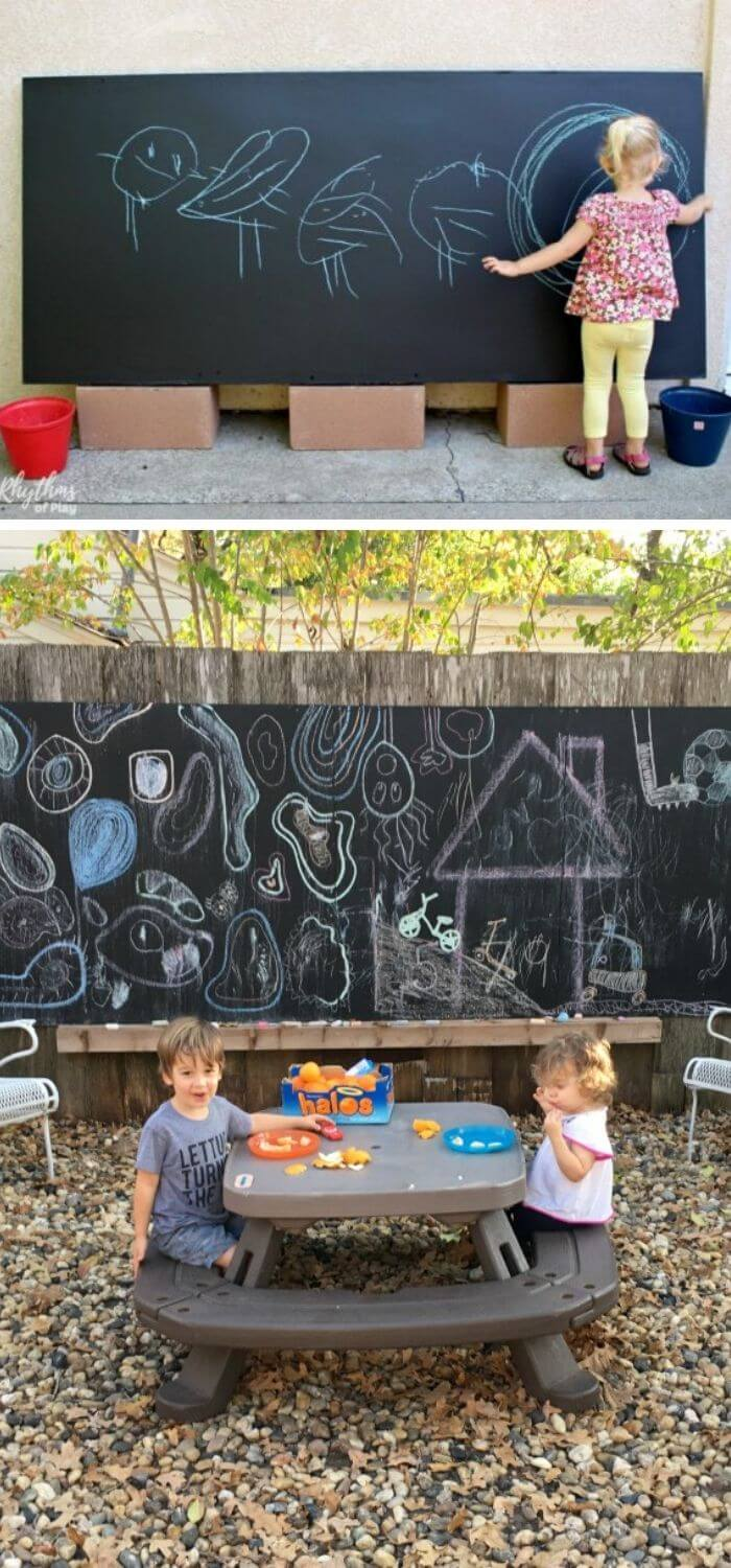 Backyard DIY Outside Chalkboard