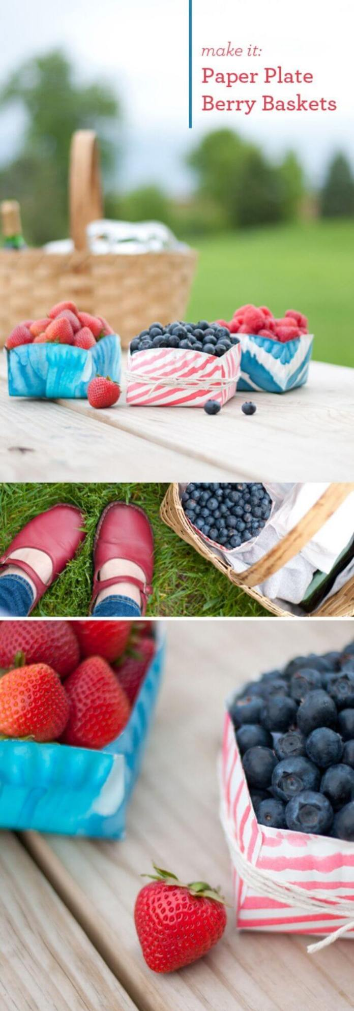 DIY Berry Picking Baskets