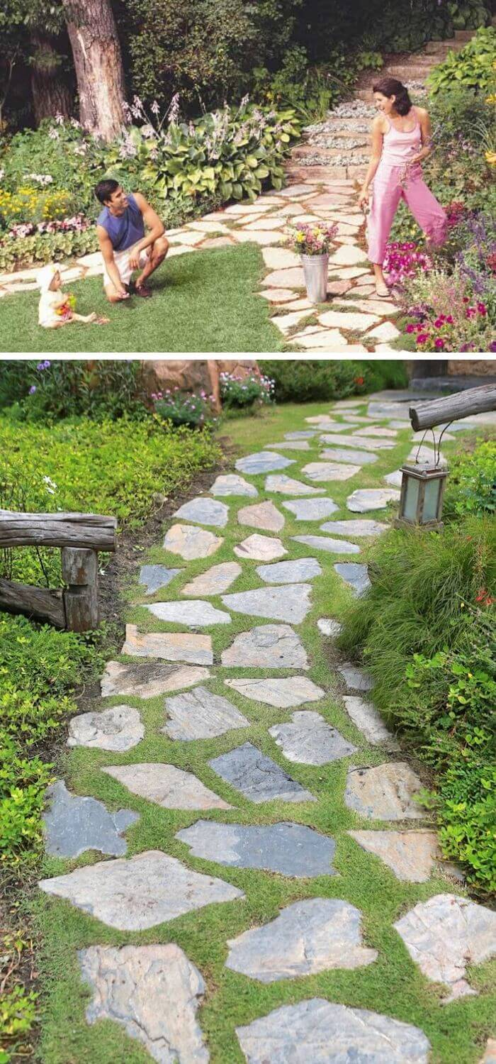 Backyard DIY Stone path