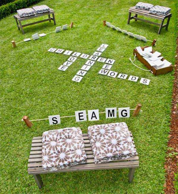 Outdoor word game