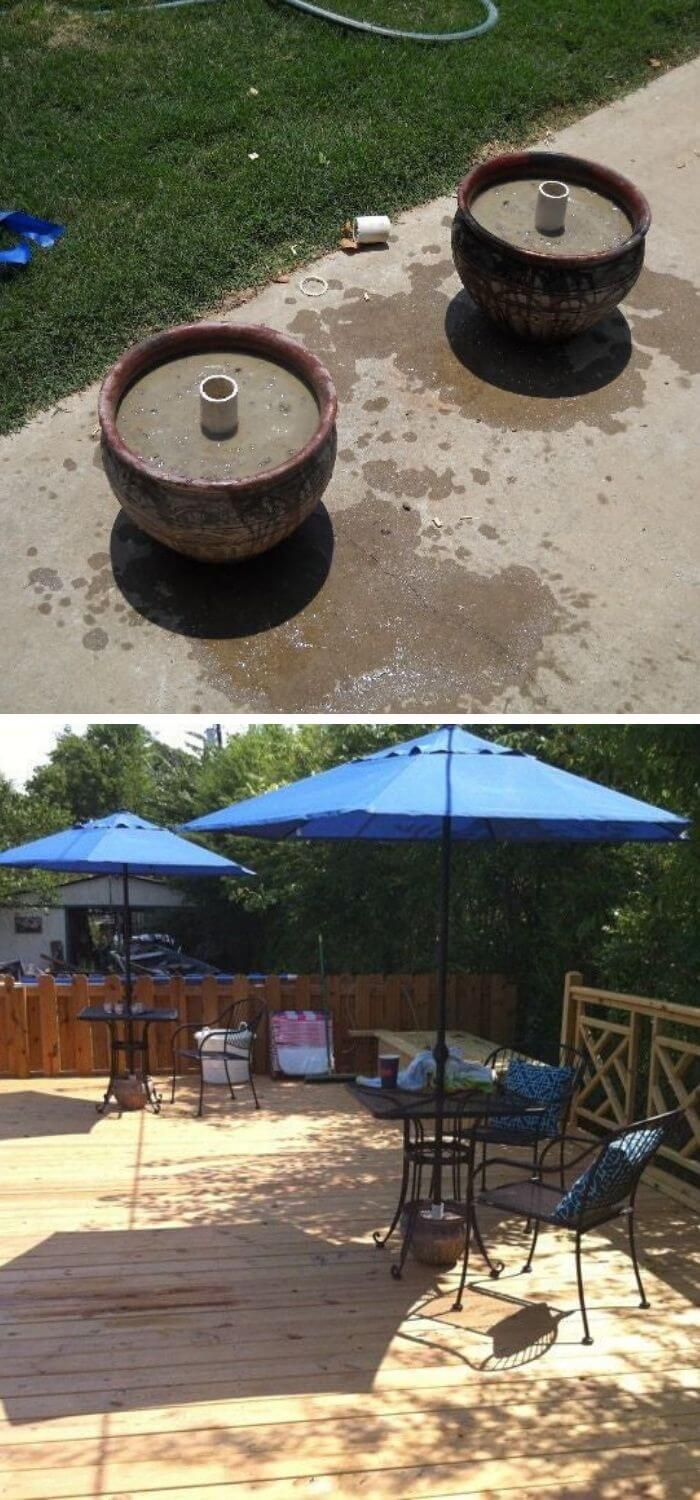 Backyard DIY Umbrella Stand