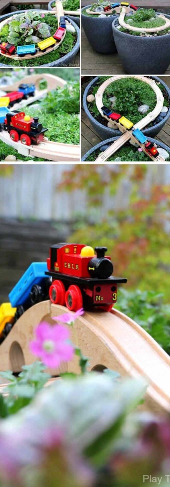 DIY wooden train table