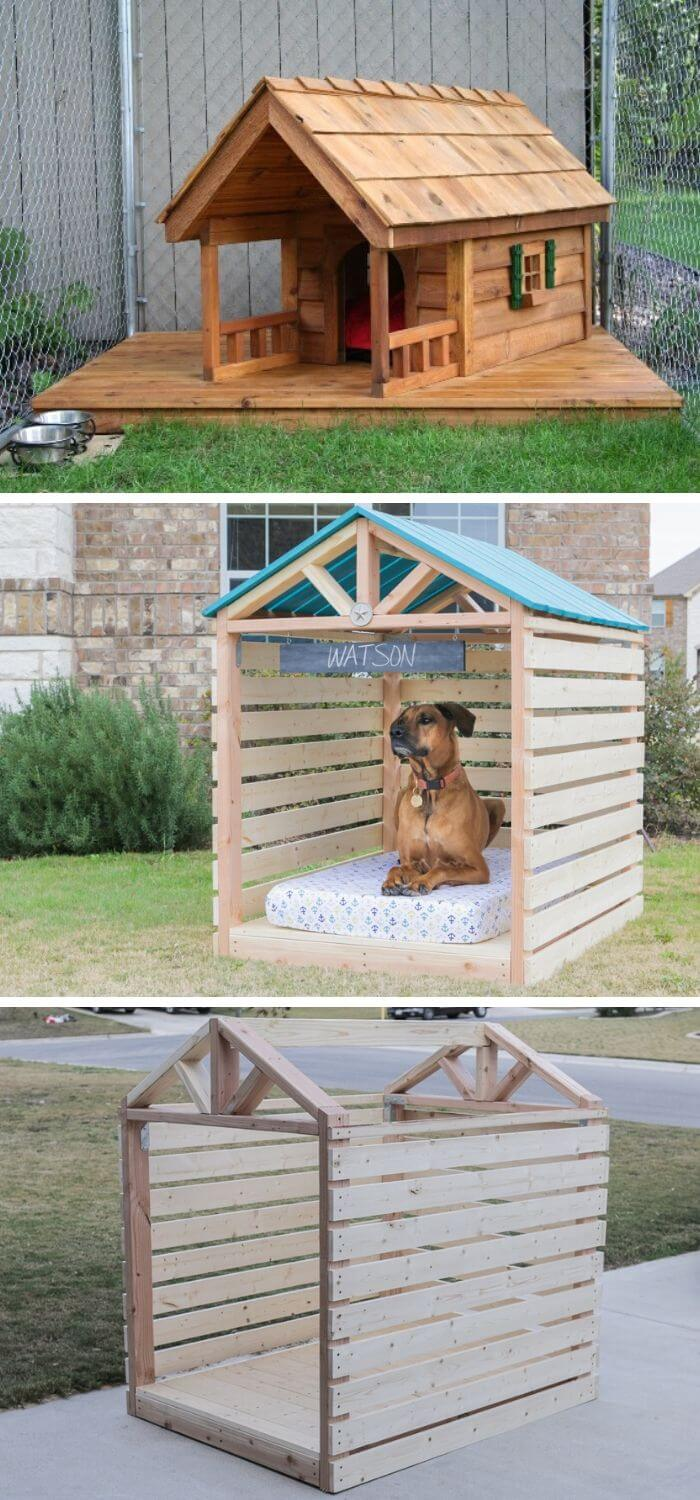 Backyard DIY Rainy day Doghouse