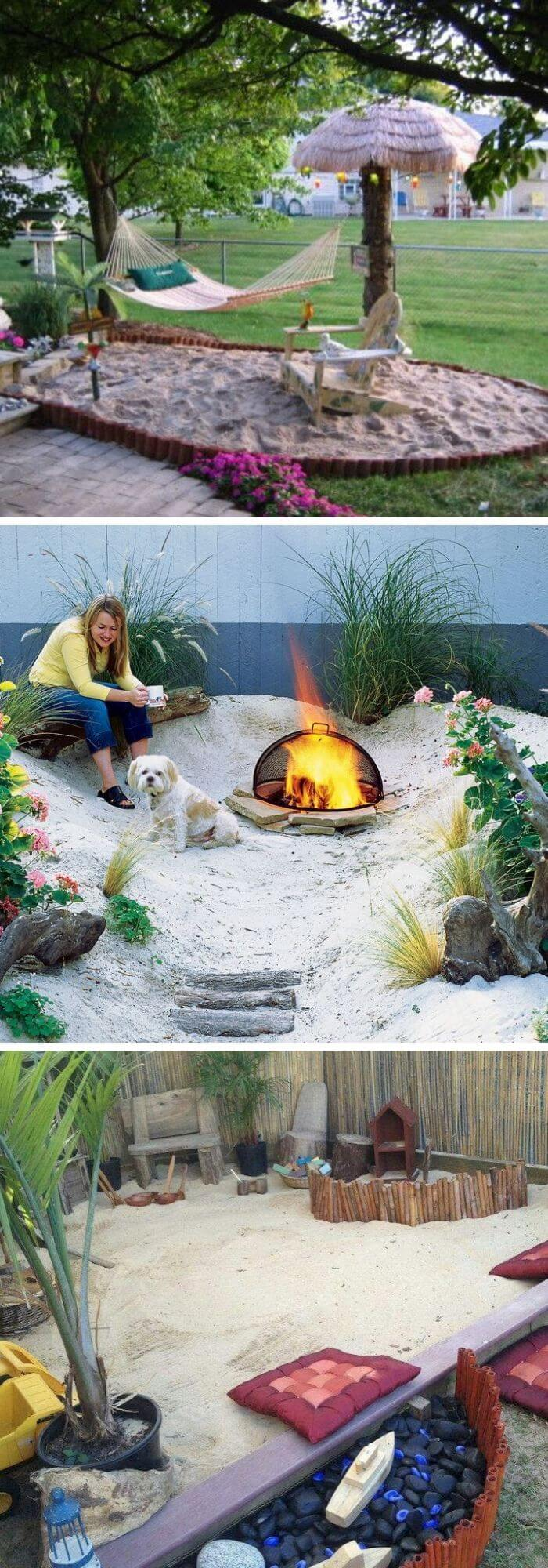 Backyard DIY Beach