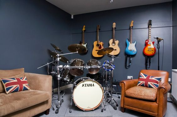 Music themed man-cave