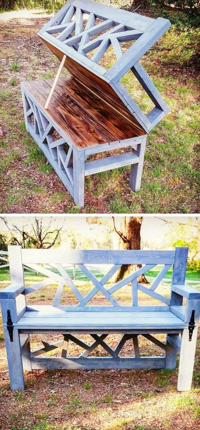 Convertible bench and table