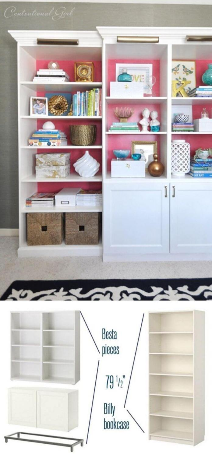 Adding crown molding to the top of cabinets