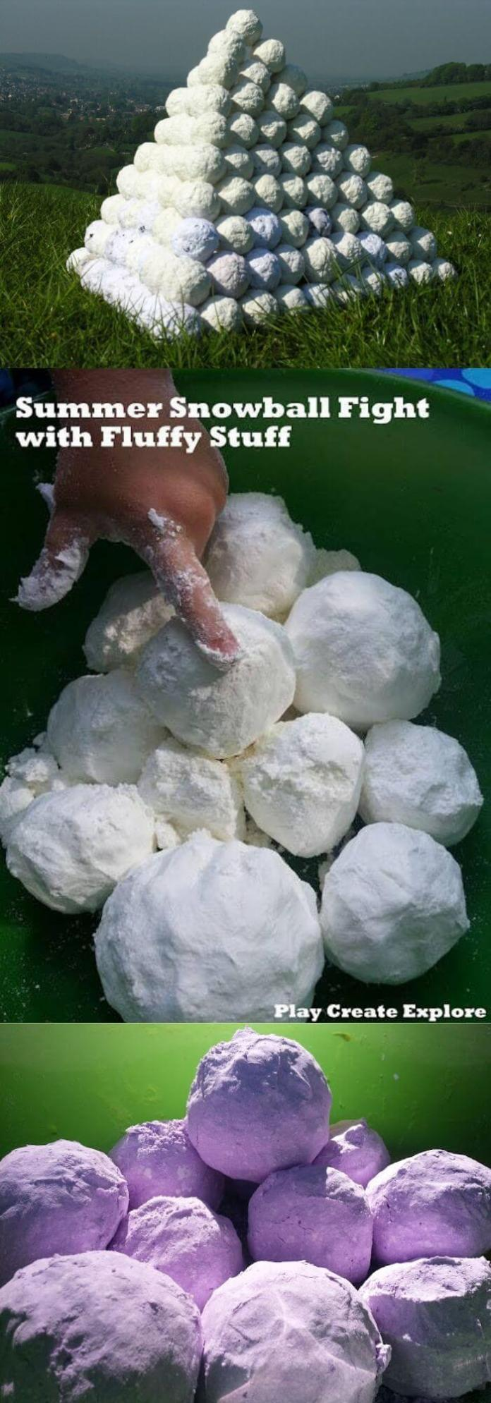 Make this fluffy stuff so every kid can experience a snowball fight this winter