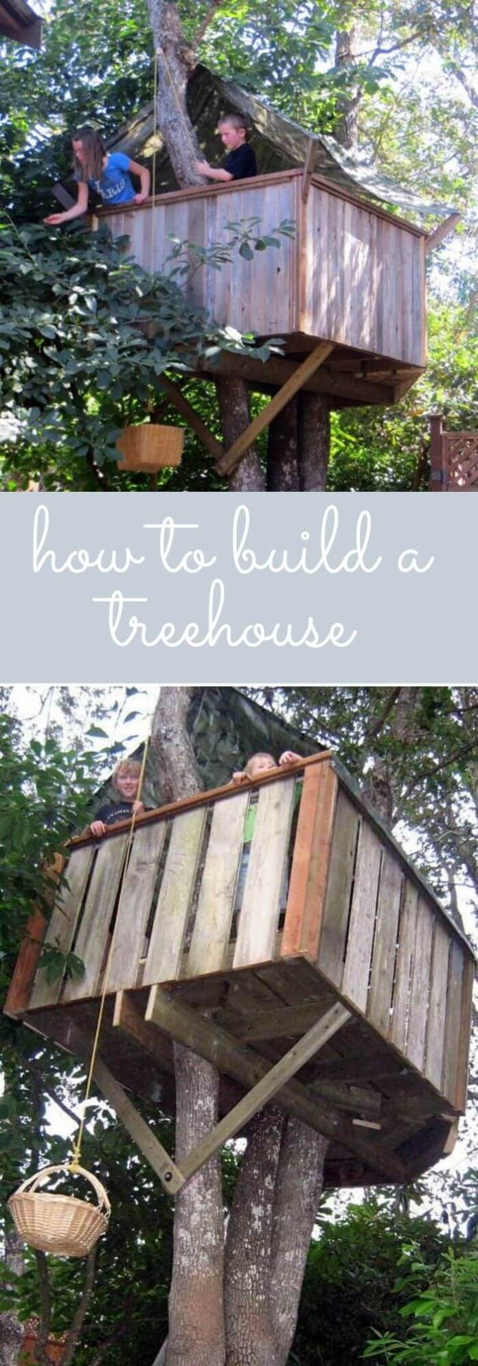 Build a treehouse for your kids