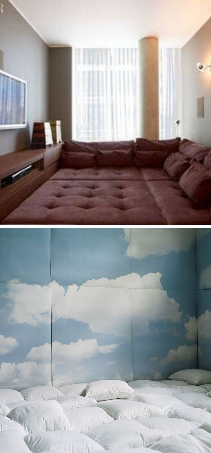 Turn an attic nook into a pillow room