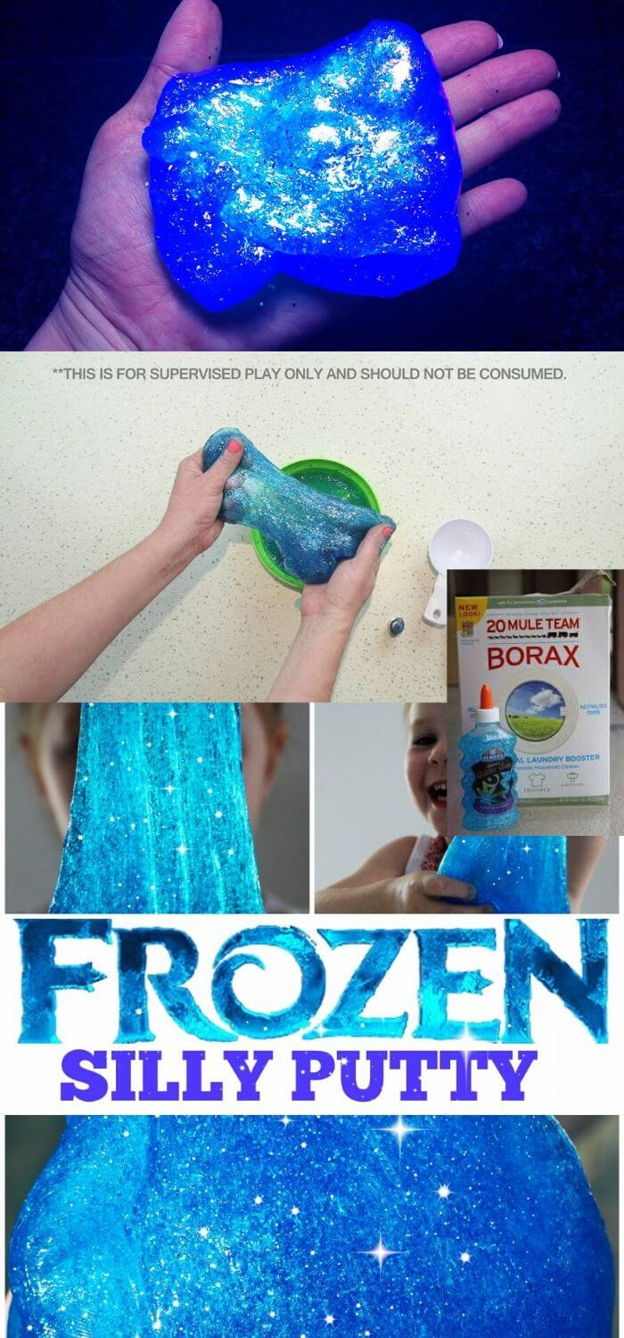 Thrill your kids with the famous batch of frozen silly putty