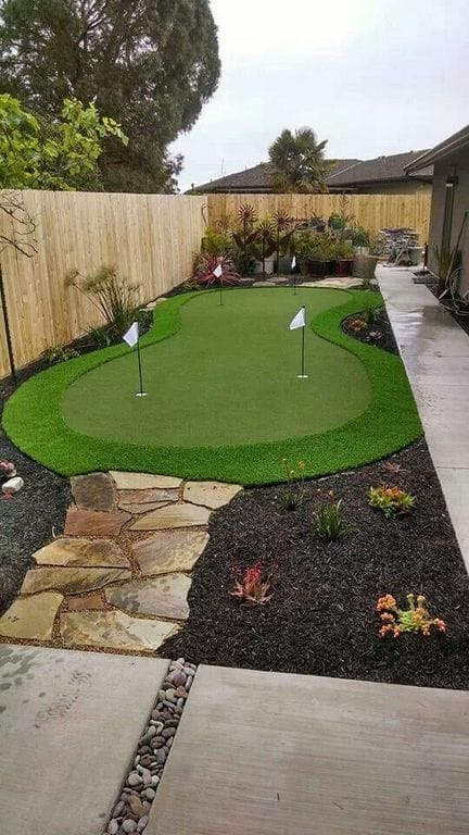 Arizona backyard landscaping ideas with grass and turfs
