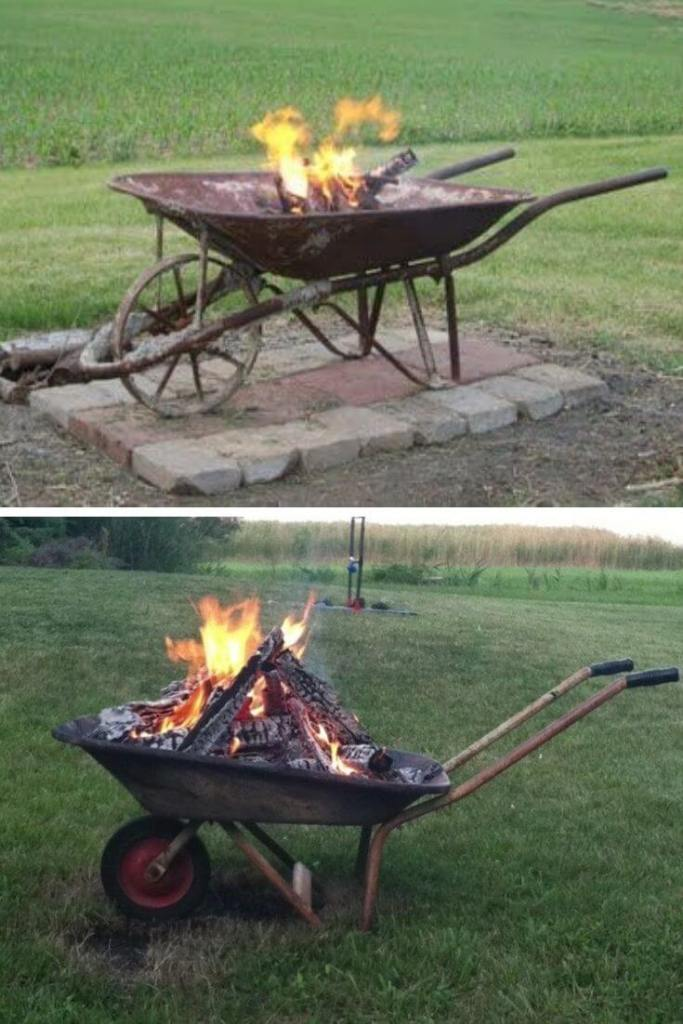 Repurposed Wheelbarrow Pit