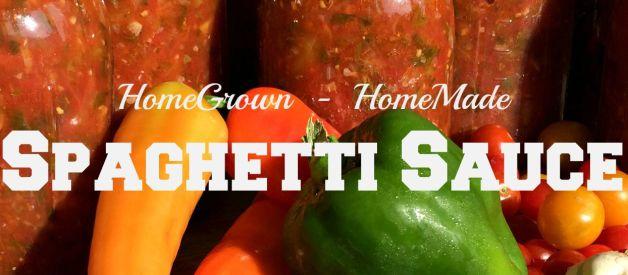 Make and Can Spaghetti Sauce!