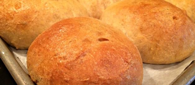 Deli-Style, Soft Hamburger Buns with Fresh Flour