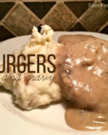 Burgers and Mushroom Gravy (Premium)