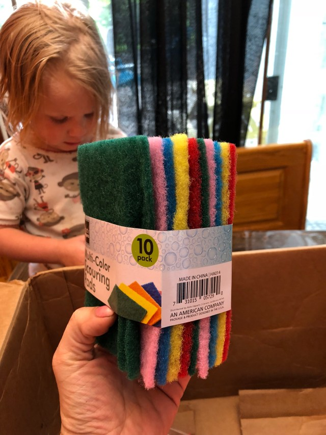 hollar review dollar store online scrubbing pad scouring