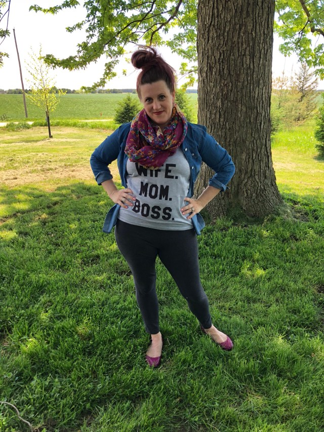 Wife mom boss wish graphic tee one shirt many ways fashion style blog Mom outfits