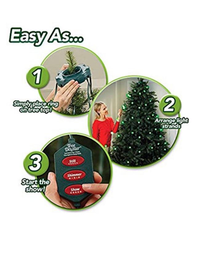 Tree Dazzler review Christmas lights Christmas tree