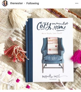 cozy minimalist home the nester book list