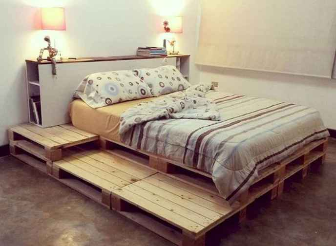 twin pallet bed with storage