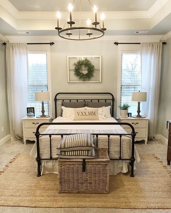 farmhouse bedroom chandelier set
