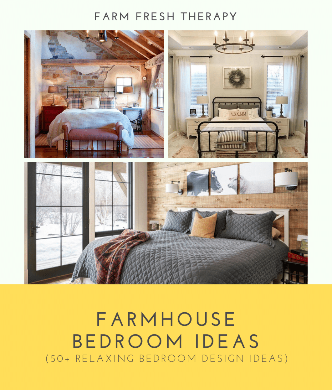 55 Must-See Farmhouse Bedroom Ideas, Accessories & Furniture