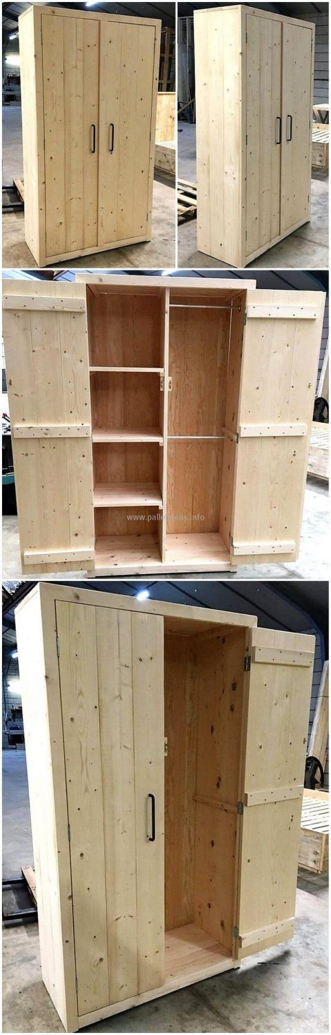 bookshelf out of pallet