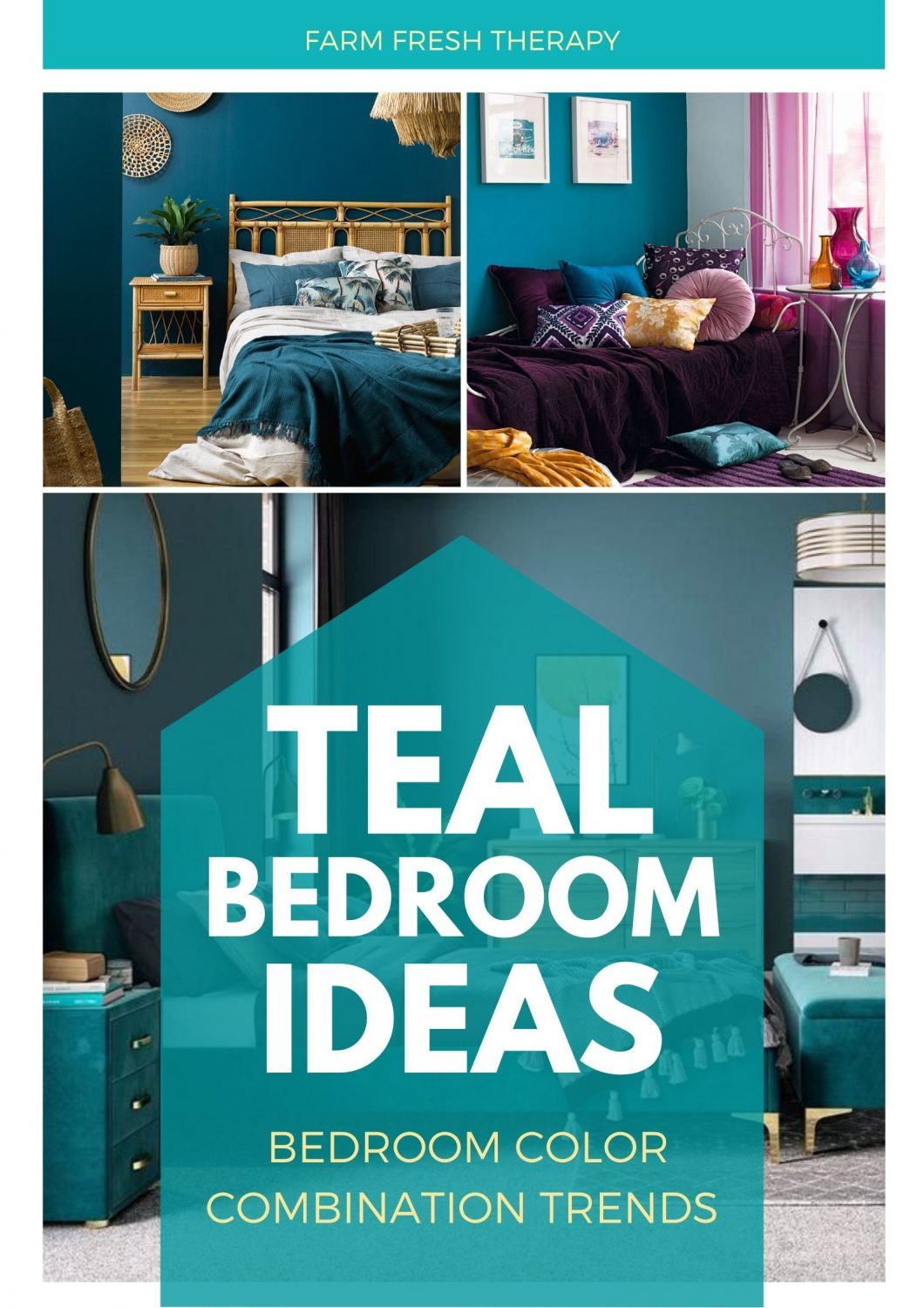 teal color bedroom