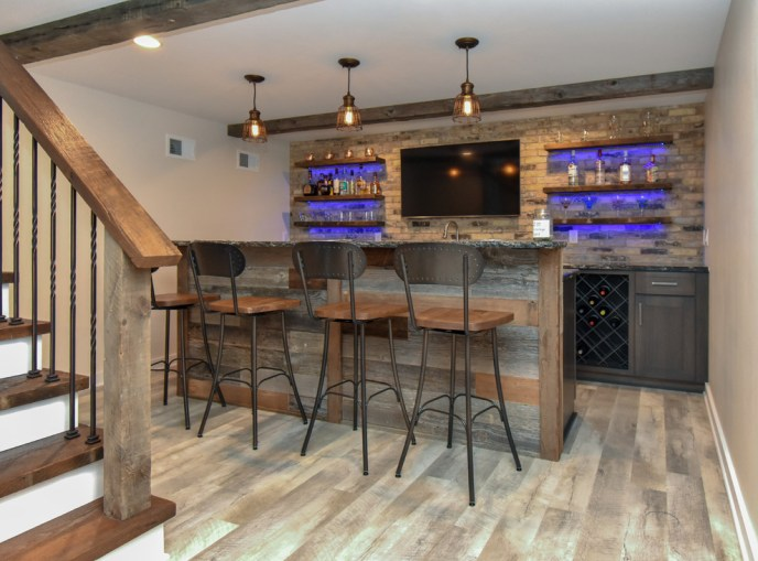 modern basement man cave ideas