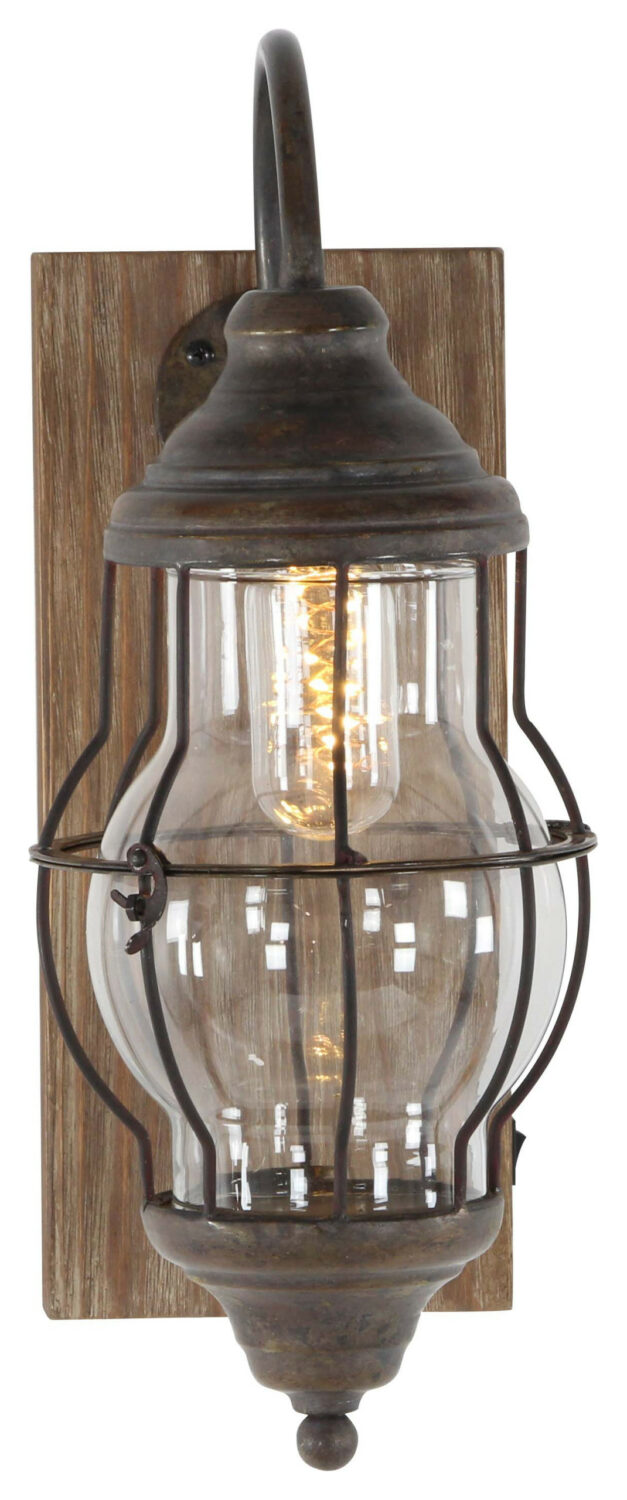 rustic sconce