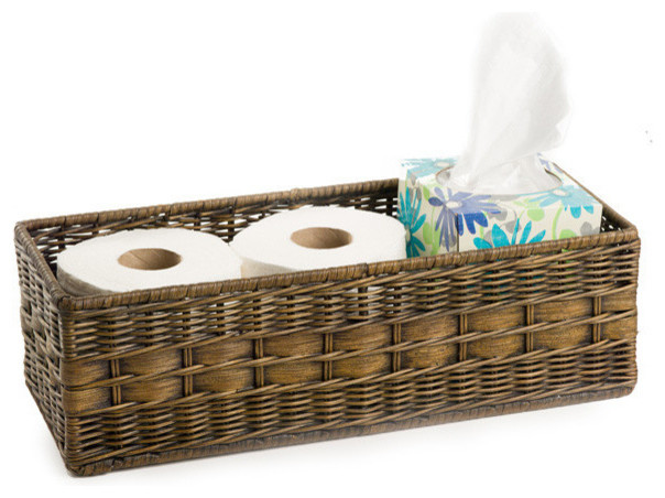 rustic bathroom basket