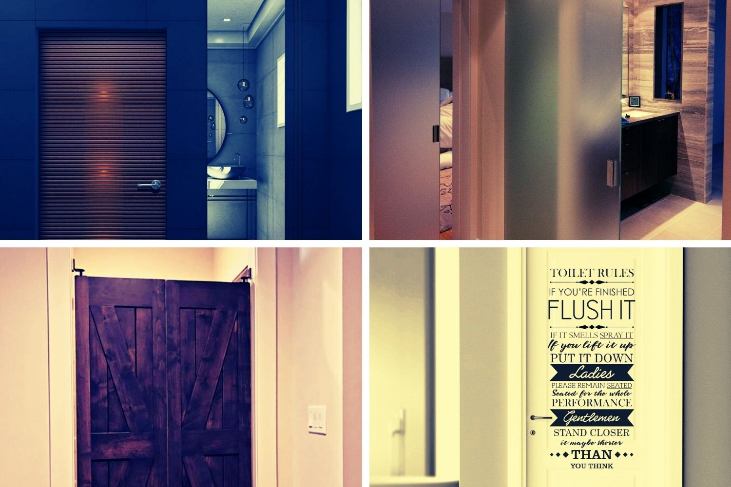 35 Fascinating Bathroom Door Ideas | The Latest Decoration Guide