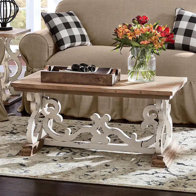 antique coffee table rustic style