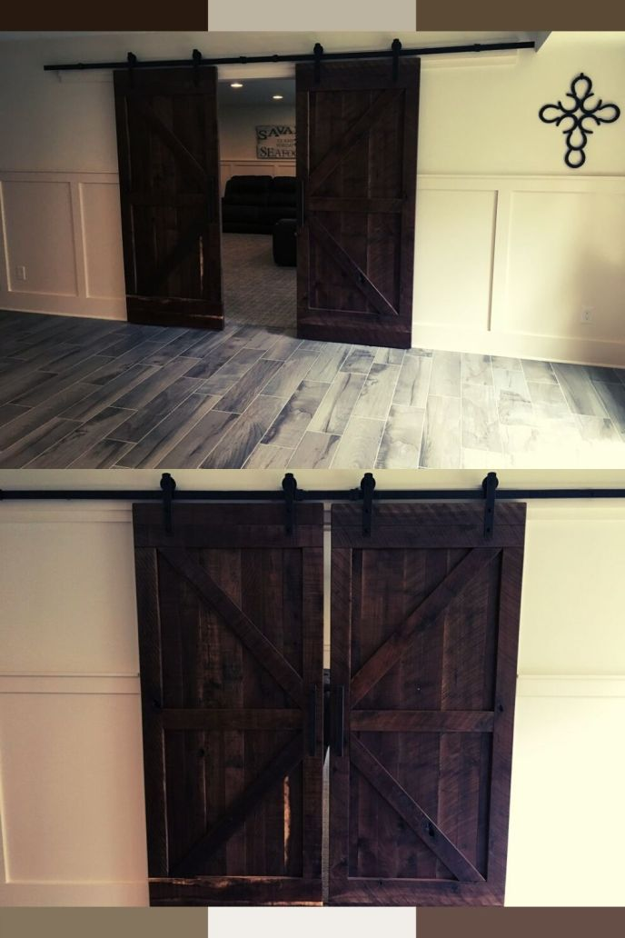 black exterior barn door hardware