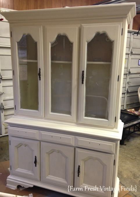 Annie Sloan Old White Painted Hutch Farm Fresh Vintage Finds