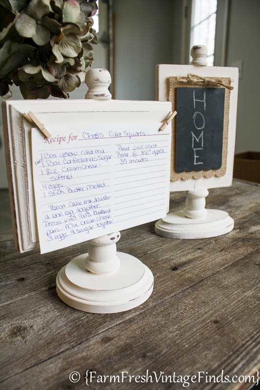 DIY Recipe Card Holder Farm Fresh Vintage Finds