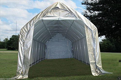 28u0027x12u0027 Carport Grey/White - Garage Storage Canopy Shed Car Truck Boat & 24u0027x13u2032 Carport Grey/White u2013 Heavy Duty Waterproof Garage Storage ...
