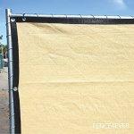 6-x-50-3rd-Gen-Tan-Beige-Fence-Privacy-Screen-Windscreen-Shade-Fabric-Mesh-Tarp-Aluminum-Grommets-0-1